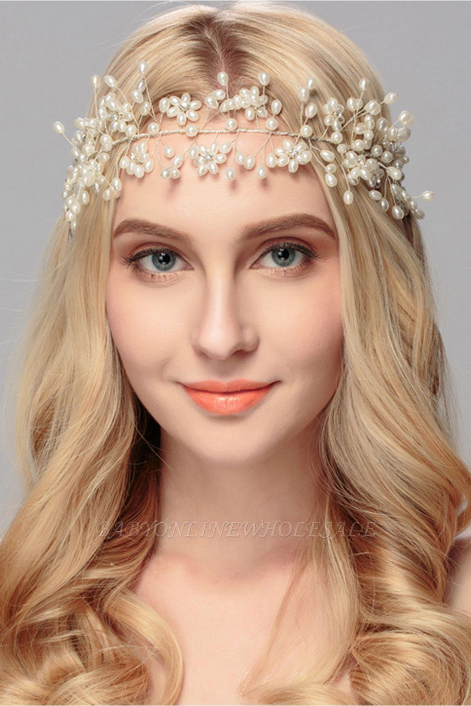Beautiful Alloy &Imitation Pearls Party Headbands Headpiece with Rhinestone