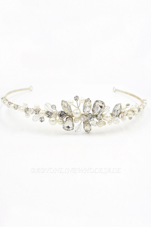 Elegante Legierung Nachahmungen von Perlen Besondere Anlässe & Hochzeit Haarnadeln Kopfschmuck mit Kristall Strass