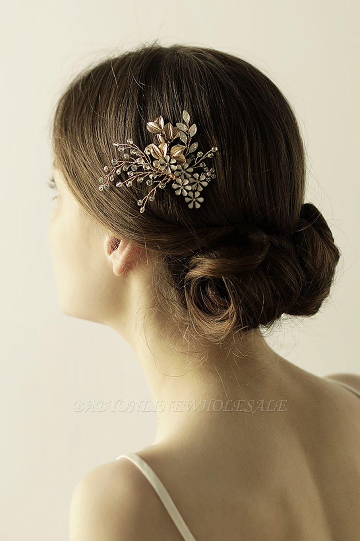 Alliage élégant et strass usure quotidienne coiffes Combs-Barrettes avec cristal