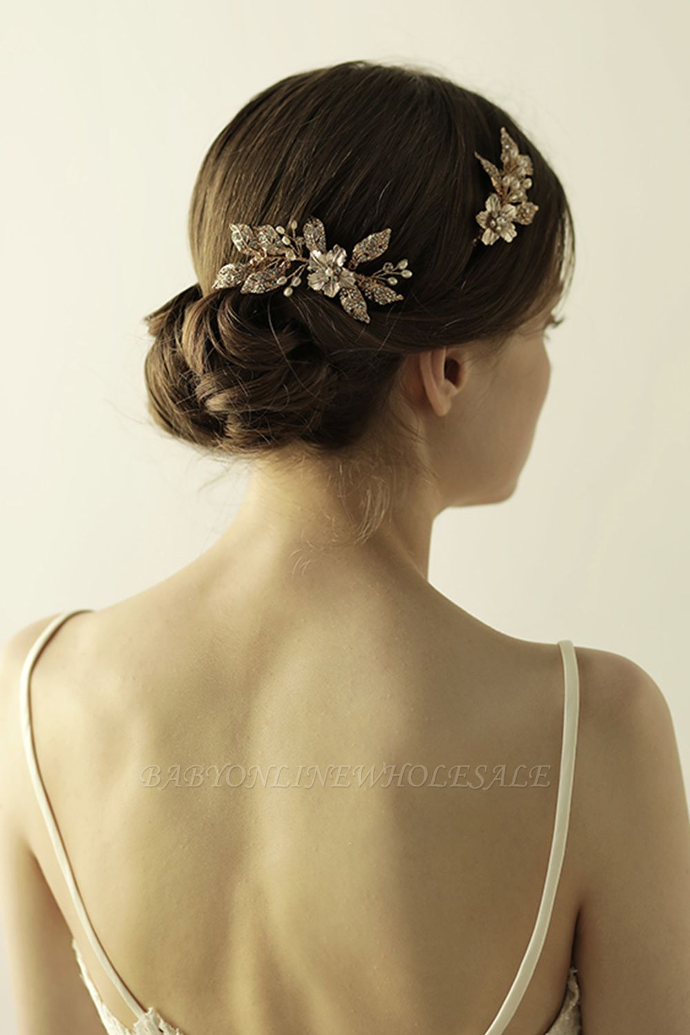 Beautiful Alloy&Rhinestone Party Combs-Barrettes Headpiece with Imitation Pearls