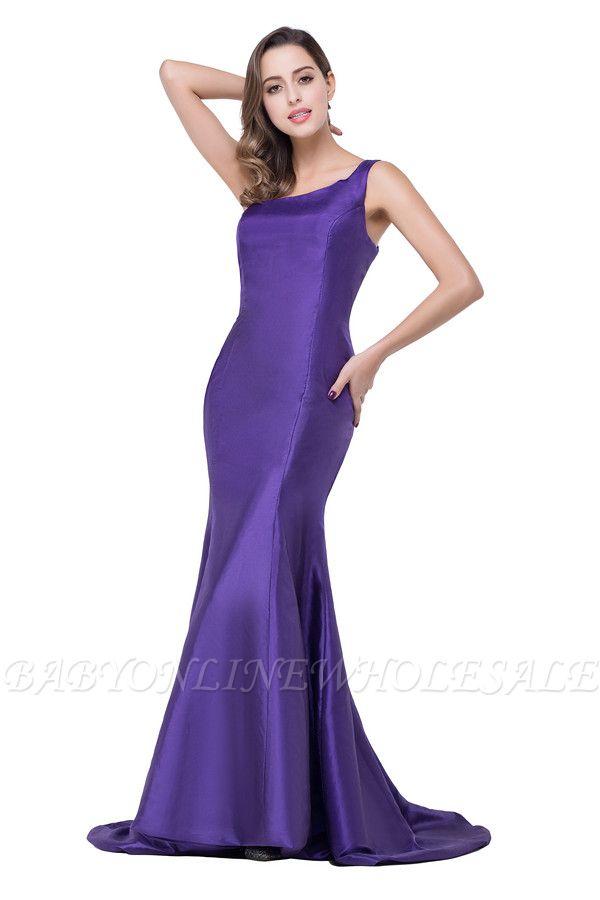 HALLE   Mermaid One-shoulder Sweep-length Satin Bridesmaid Dresses