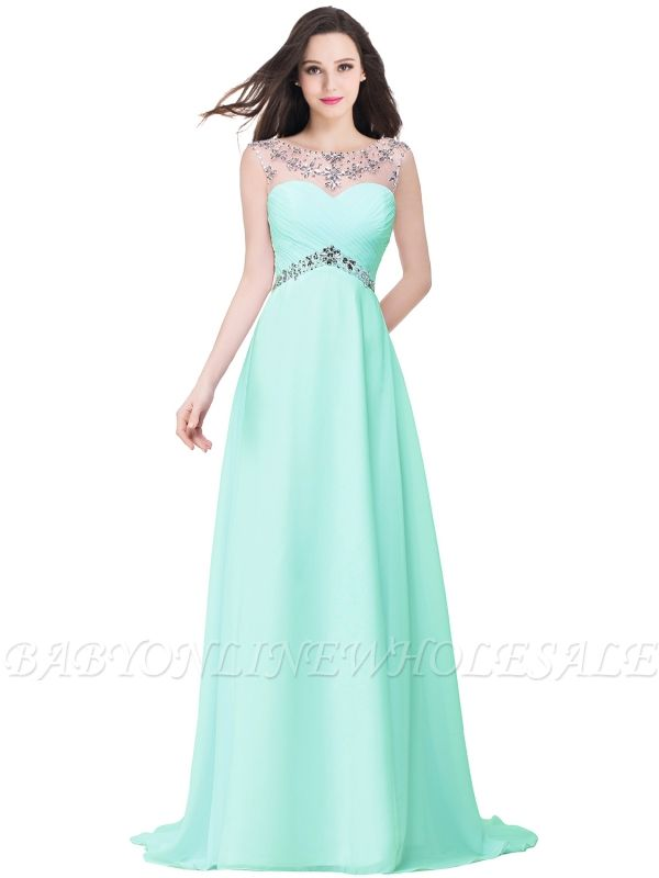 AINSLEY | A-line Sweetheart Chiffon Evening Dress With  Crystal