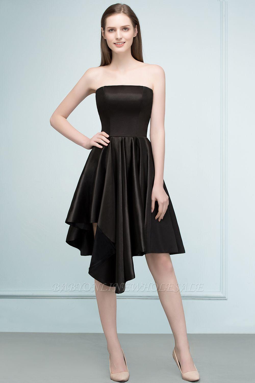 REA | A-ligne bretelles courtes volants noir robes de retour