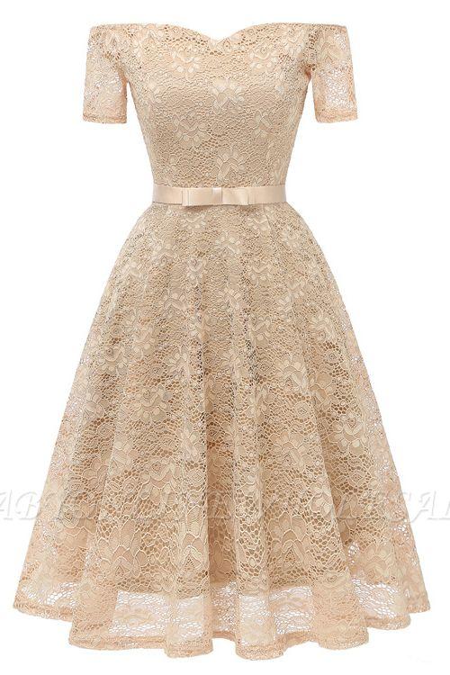 neue A-Linie Frauen Lace Vintage Dress