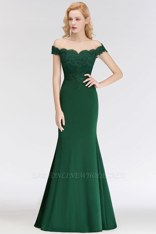 NOLA | Mermaid Off-the-shoulder Long Appliques Satin Bridesmaid Dresses