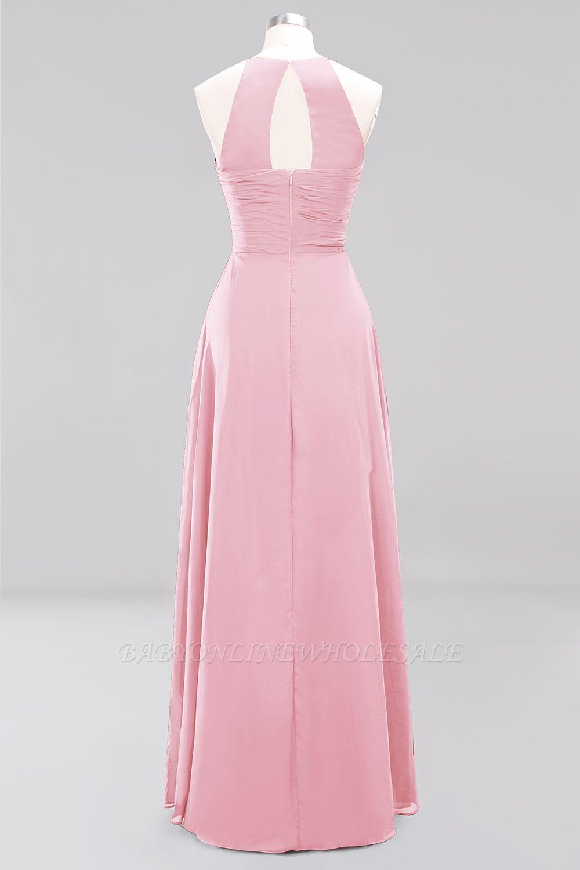 Brautjungfernkleider Weinrot Lang Chiffon | Etuikleider Brautjungfernkleid Übergröße
