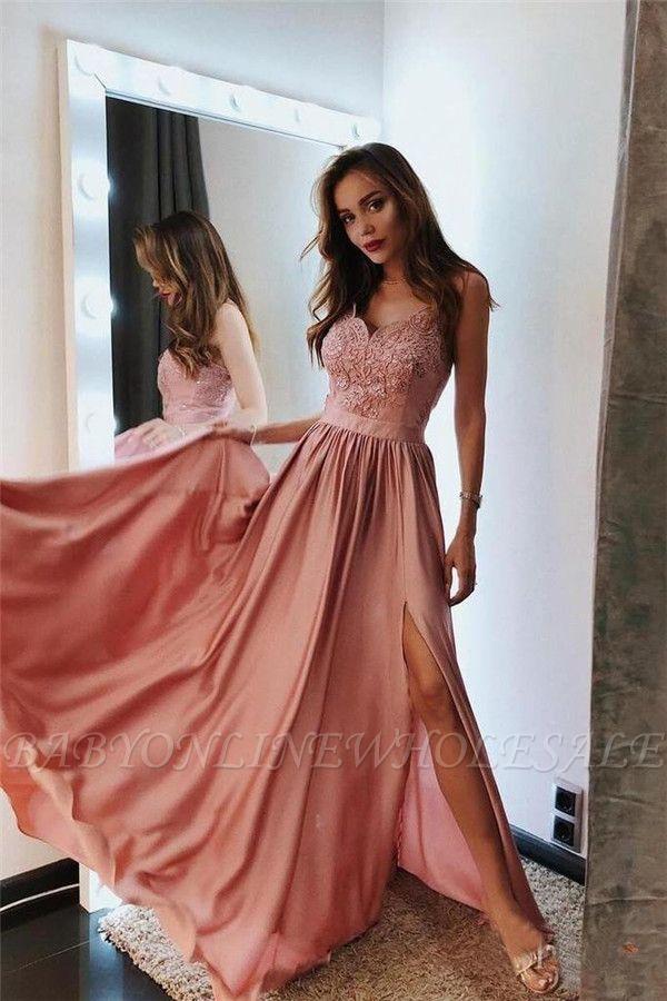 elegante abendkleid rosa  designer abendkleider lang
