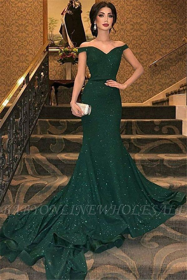 Элегантные платья выпускного вечера аппликация на одно плечо | Вечерние платья с разрезом и длинными рукавами с поясом