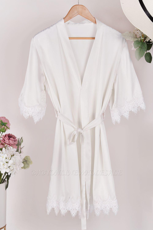 Lace Bridal Robe / Bridesmaid Robes / Robe / Bridal Robe / Bride Robe / Bridal Party Robes / Bridesmaid Gifts / Satin Robe