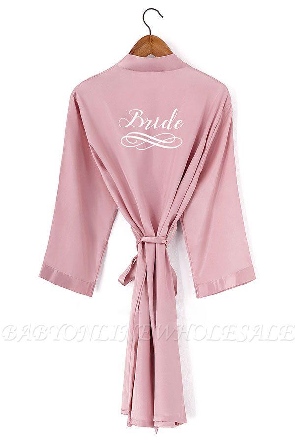 Dryden   Personalized Sleepwear HOT Women Short floral Robe Bridal Wedding Bride Bridesmaid Dressing Gown