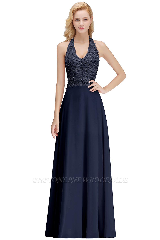 Sexy Halfter rückenfrei, Burgund, Marine, Pink, Silber Ärmellose Prinzessin Abendkleid