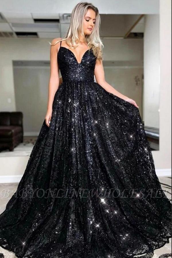Блестящее черное вечернее платье с пайетками Aline Платье для вечеринки в форме сердца