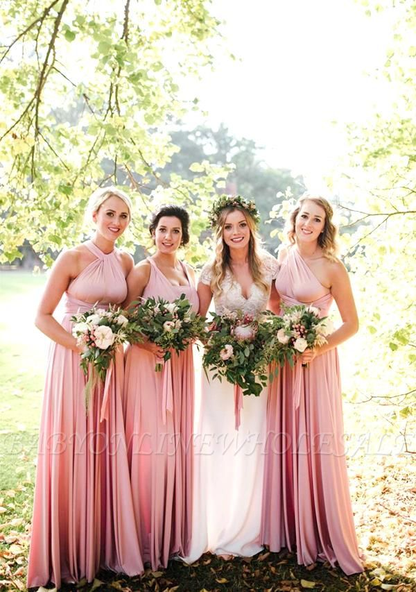 Multiway-Infinity-Kleid in Blush Pink
