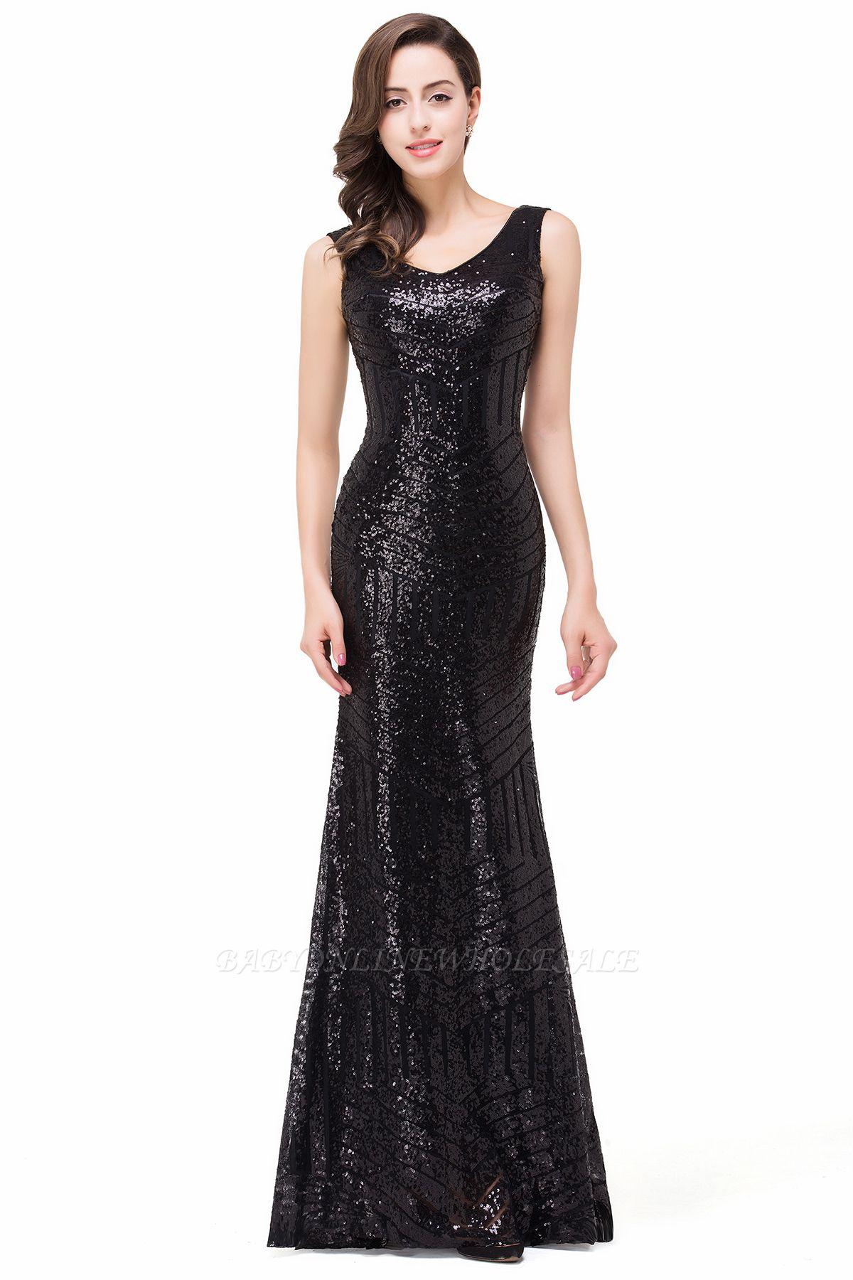EVERLEIGH | Mermaid V-neck Sleeveless Floor-Length Sequins Prom Dresses