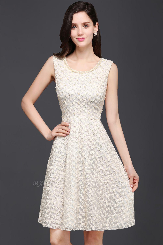 CHRISTINE | Princess Scoop neck Knee-length Lace Sexy Prom Dress