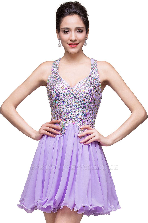 ELIANNA | Платье выпускного вечера с шифоновыми шифонами без рукавов с бриллиантами
