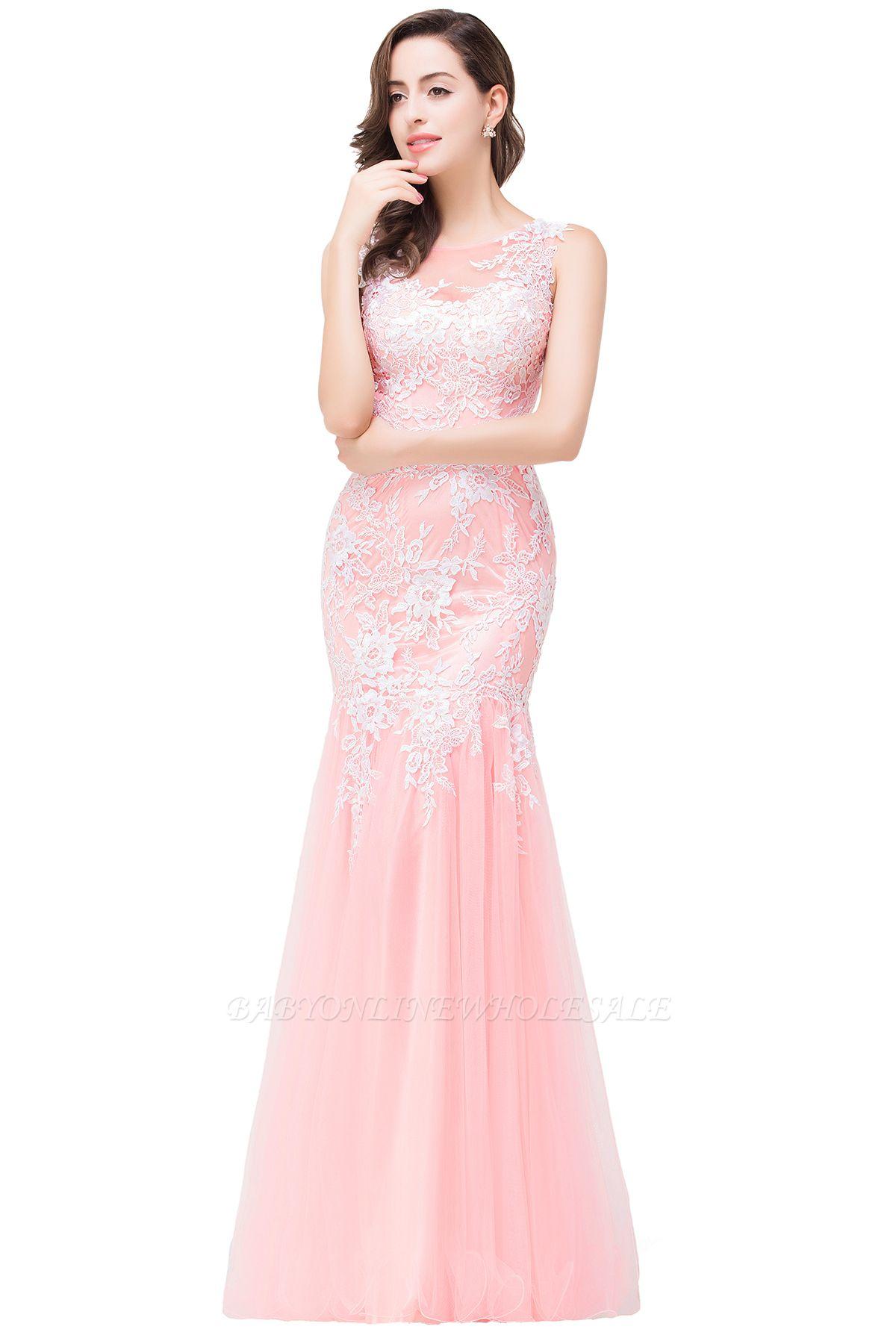 Longue robe de bal maxi dentelle sirène sans manches