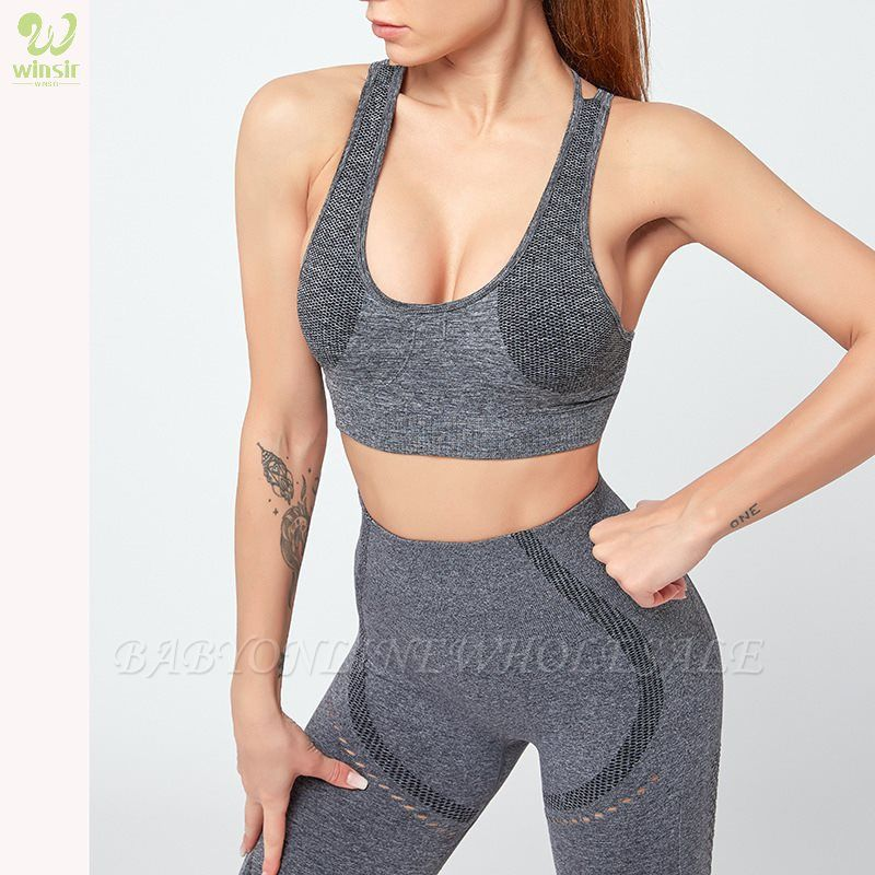 Running Bra and Activewear Pants Yoga Clothing Sets for Women Sport Clothing
