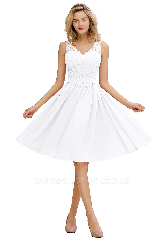 Dentelle v-cou long robes de bal courtes avec ceinture | Robe de cocktail sexy sans manches dos-à-dos rose