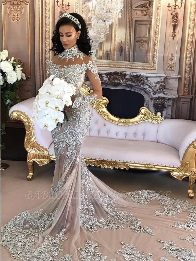 Luxury Brautkleider Mit Ärmel Meerjungfrau Hochzeitskleider Günstig Online Kaufen