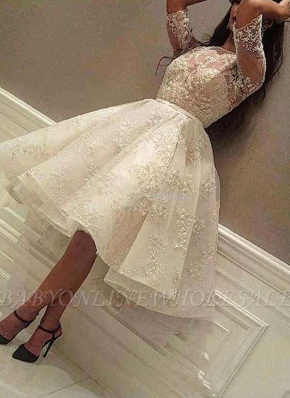 Puffy Lace vestidos de fiesta | Joyas medias mangas del regreso al hogar vestidos
