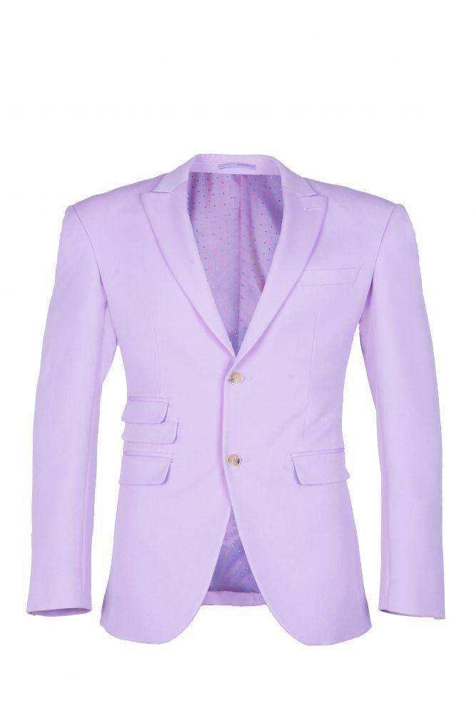 Peak Lapel High Quality Two Button Lavender Casual Suit