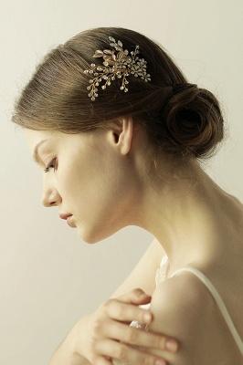 Alliage élégant et strass usure quotidienne coiffes Combs-Barrettes avec cristal_7