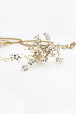 Beautiful Alloy&Rhinestone Special Occasion Headbands Headpiece with Imitation Pearls_5