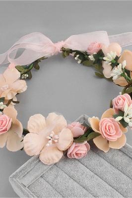 زهرة بلاستيكية مناسبة خاصة زهرة-البنات أغطية الرأس مع اللآلئ المقلدة_8