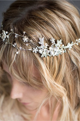 Beautiful Alloy &Imitation Pearls Special Occasion Hairpins Headpiece with Rhinestone_3