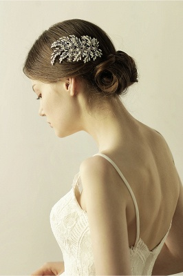glamour Alloy Imitation Perles Occasion spéciale Combs-Barrettes Headpiece avec strass_7