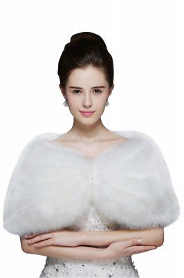 Sexy Tulle blanc demi-manches occasionnels mariage Wraps