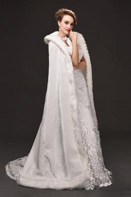 Warm Luxury Tulle  Ivory Sleeveless Casual Cathedral Wedding Wraps_4