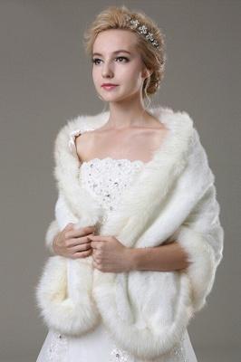 Elégant chaud tulle blanc demi-manches occasionnels mariage Wraps