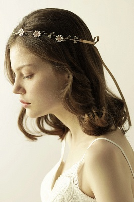 Floral  Alloy Party Headbands Headpiece with Rhinestone