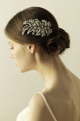 glamour Alloy Imitation Perles Occasion spéciale Combs-Barrettes Headpiece avec strass_2