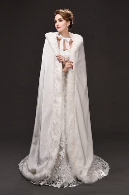 Warm Luxury Tulle  Ivory Sleeveless Casual Cathedral Wedding Wraps_3