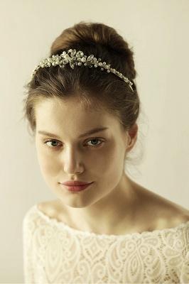 Elegante Legierung Nachahmungen von Perlen Besondere Anlässe & Hochzeit Haarnadeln Kopfschmuck mit Kristall Strass_5