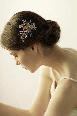 Alliage élégant et strass usure quotidienne coiffes Combs-Barrettes avec cristal_2