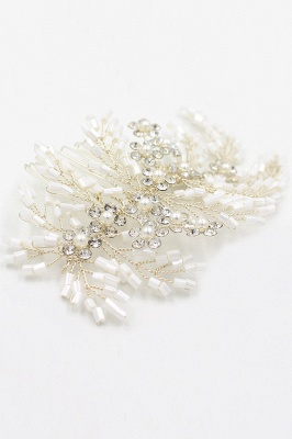 glamour Alloy Imitation Perles Occasion spéciale Combs-Barrettes Headpiece avec strass_1