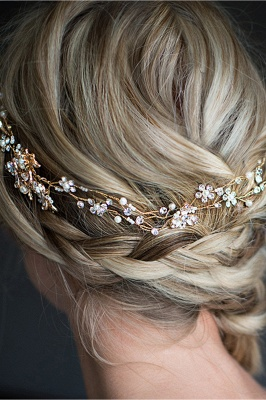 Beautiful Alloy &Imitation Pearls Special Occasion Hairpins Headpiece with Rhinestone_5