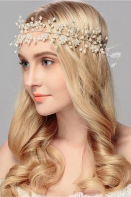 Beautiful Alloy &Imitation Pearls Party Headbands Headpiece with Rhinestone_2