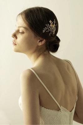 Alliage élégant et strass usure quotidienne coiffes Combs-Barrettes avec cristal_3