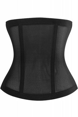 Модный полиэстер и тюль спереди Закрытие женской талии-Cincher Shapewear с печатью_3