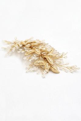 Tête de Combs-Barrettes avec des perles d'imitation_6