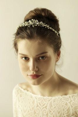 Elegante Legierung Nachahmungen von Perlen Besondere Anlässe & Hochzeit Haarnadeln Kopfschmuck mit Kristall Strass_3