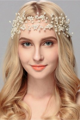 Beautiful Alloy &Imitation Pearls Party Headbands Headpiece with Rhinestone