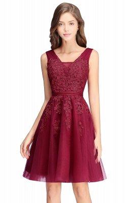 ADDILYNN | Платье выпускного вечера из тюля длиной до колена с аппликациями_4