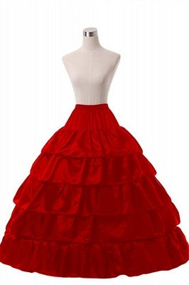 Cute Taffeta Scalloped Edge Ball Gown Party Petticoats