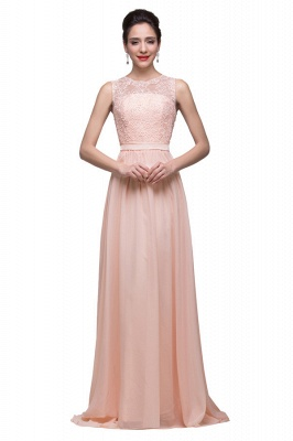 Crew Floor-length Sash Chiffon Bridesmaid Dresses With Applique
